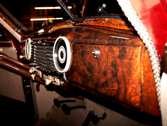 Wood Grain Car Paint 1947 Chevrolet Business Coupe burl dashboard.