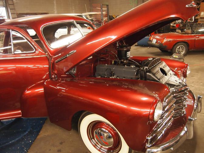 1947 Chevrolet burl dashboard Wood Grain Car Paint