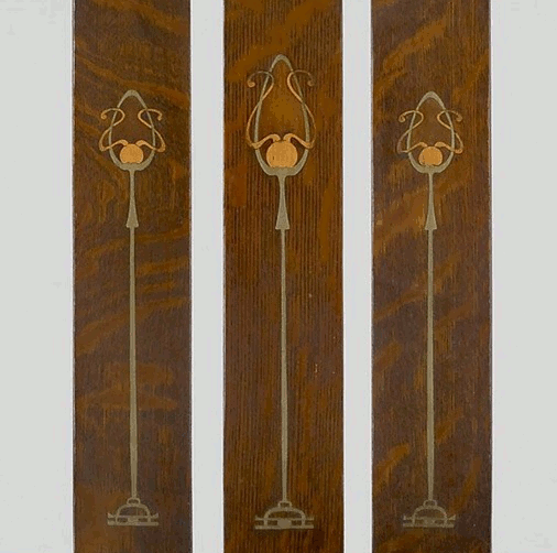 Original Gustav Stickley inlay inspires faux wood art
