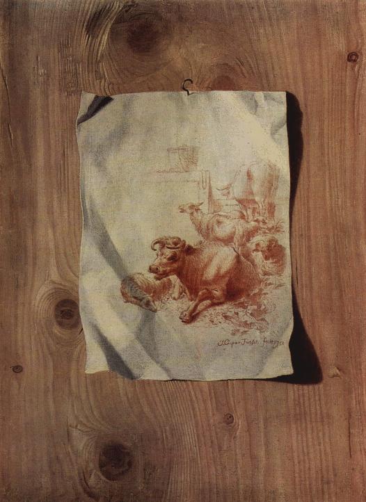 Trompe l'Oeil with faux wood art by Henry Fuseli