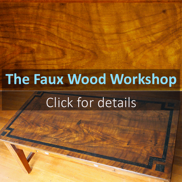 Faux wood paint workshop image link to course