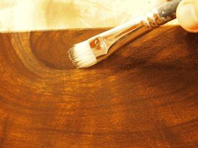 faux wood knots detailed in faux walnut