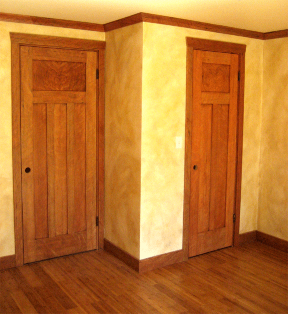 Cherry faux painted woodgrain images info for What paint to use on interior wood doors