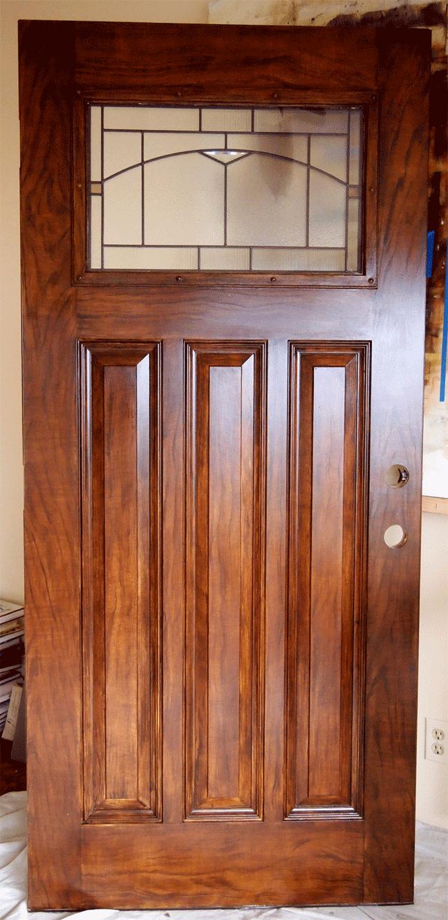 Faux walnut woodgrain entry door & Faux Walnut Woodgrain Restoration Project Pezcame.Com