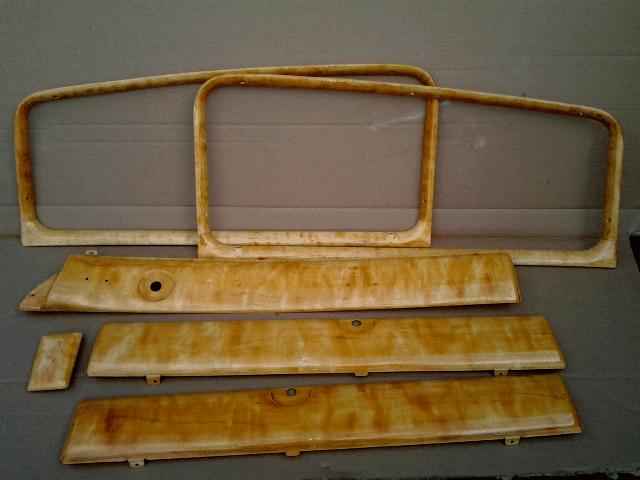 Hudson Hornet faux grained interior trim pieces