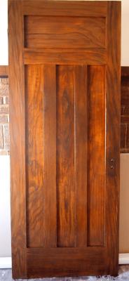 Faux Walnut Grained Door