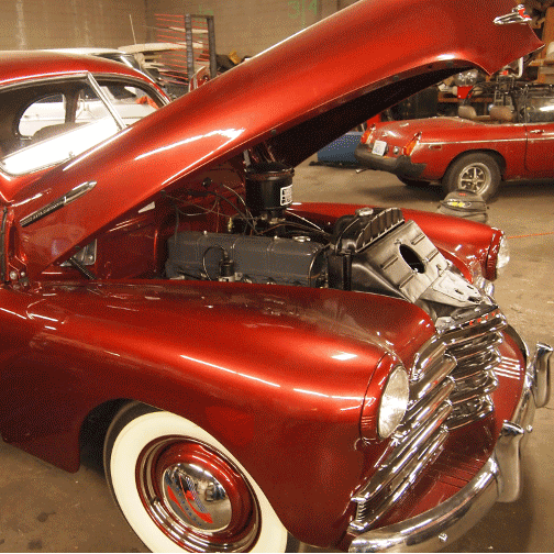1947 Chevrolet Dashboard in Faux Painted Burl