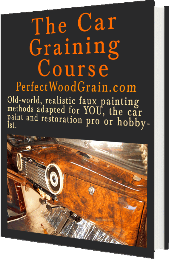 the car graining course perfectwoodgrain learn faux wood painting