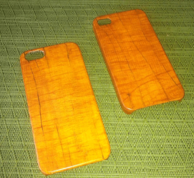 painted faux oak grained iphone cases