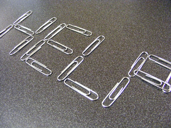 HELP paper clips faux finishing business success