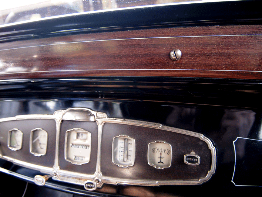 1931 Buick Faux Wood Dash Escutcheon