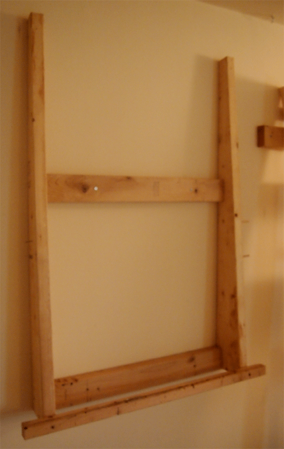 ... faux finishing studio easel frame wall mounted