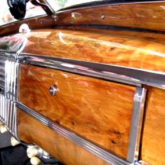 1948 Dodge Coupe Dashboard faux wood grain Oak