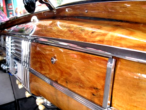 1948 Dodge Coupe Dashboard faux wood grain Oak