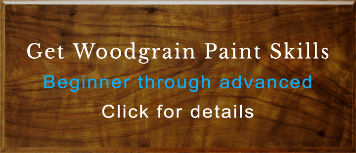 Faux Woodgrain Classes faux painted walnut perfectwoodgrain