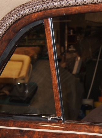 1947 Chevrolet Business Coupe Faux Wood Grain Dashboard window trim piece