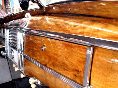 1948 Dodge Coupe Dashboard Grained In Faux Oak Woodgrain
