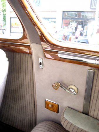 1948 Dodge faux oak trim back seat