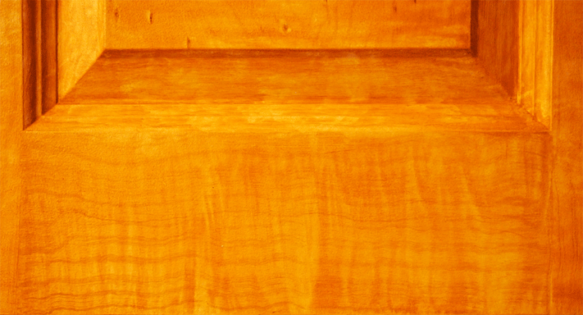 Faux Maple Door Close Up