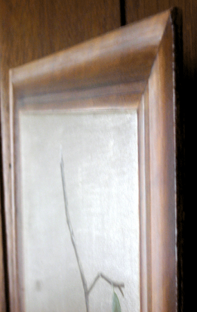 Trompe L'oeil faux oak picture frame