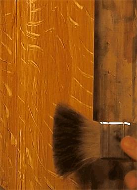 Faux Oak Door quarter sawn