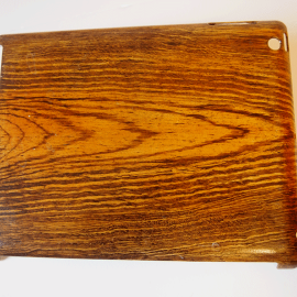 ipad case faux oak grain painted