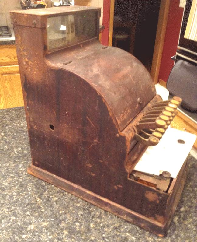 Cash Register Faux Wood Paint Restoration