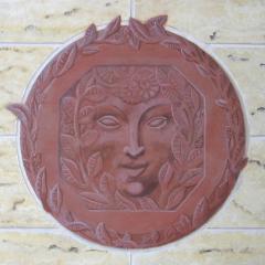 Faux painted terracotta art deco sample panel faux finishing business success