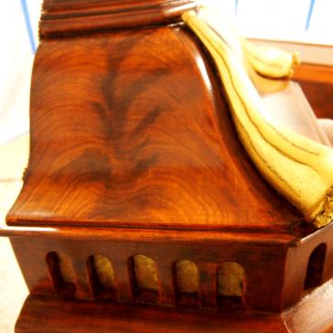 Mahogany Faux Wood Paint: Swedish Tall Clock Restoration