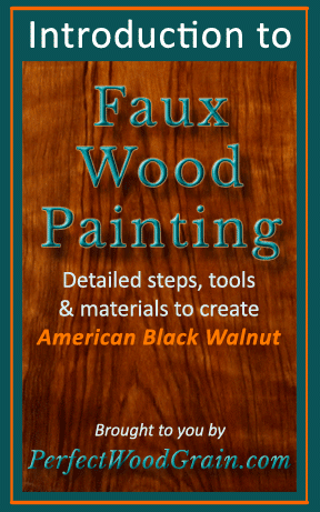 PerfectWoodGrain.com Introduction to Faux Wood Painting eBook Image Cover