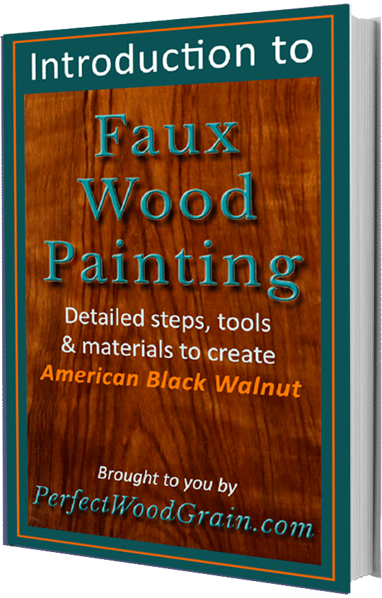 perfectwoograin faux walnut paint course ebook cover