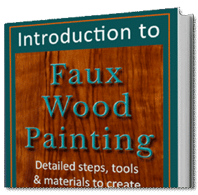 walnut and maple perfectwoodgrain Faux wood paint  course tutorial ebook covers
