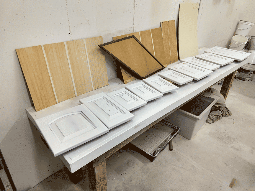 Sample process faux painted cherry cabinet doors perfectwoodgrain