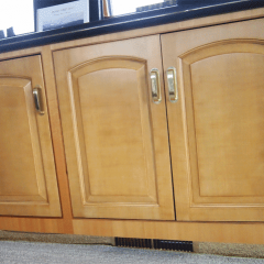 perfectwoodgrain Lover doors installed faux painted cherry cabinet doors