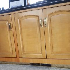 perfectwoodgrain Lover doors installed faux painted cherry cabinet doors