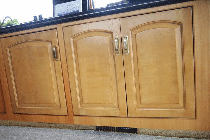 Cherry Faux Wood Paint Cabinet Doors