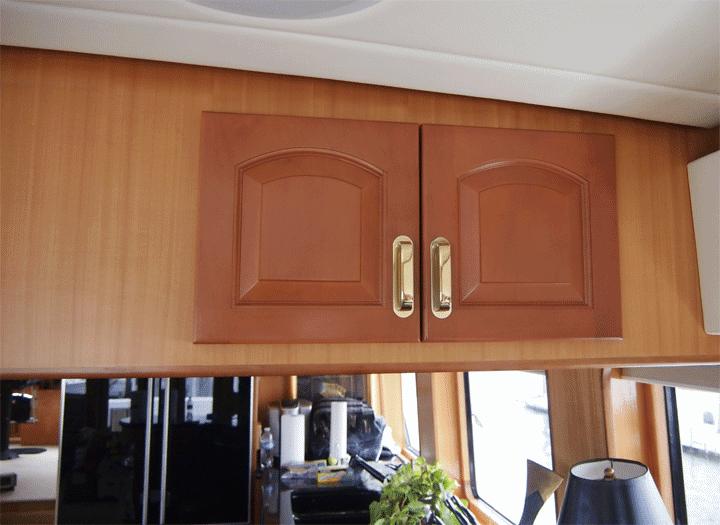perfectwoodgrain Cherry faux wood paint cabinet doors dark doors