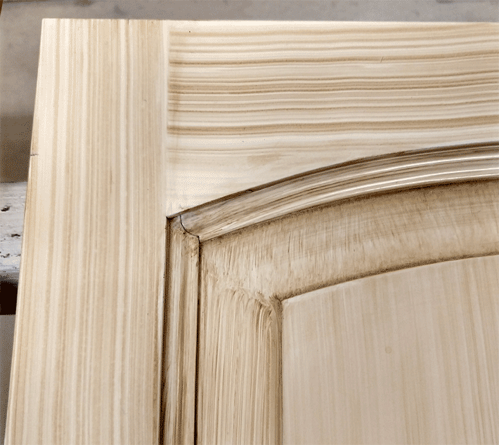 Faux wood tool method perfectwoodgrain faux painted cherry cabinet doors